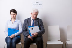 People before job interview Royalty Free Stock Photos