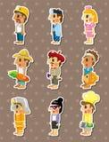 People job sitckers. Cartoon vector illustration Stock Photo