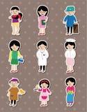 People job stickers Stock Image