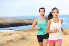 People jogging for fitness running outside Stock Photography