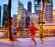 People jogging, Singapore Stock Image