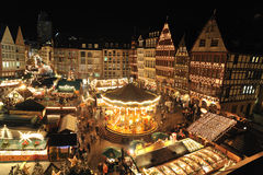 Christmas market in Frankfurt Stock Photography