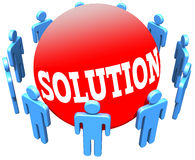 People join ring find social Solution. Circle of people join together in a ring to find social solution Royalty Free Stock Image