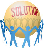 People join to find teamwork Solution. Circle of people holding hands join to find social solution Royalty Free Stock Photos