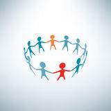 People joined in the ring vector illustration
