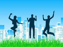 People jump Stock Image
