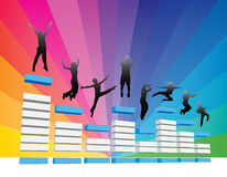 People jump vector illustration