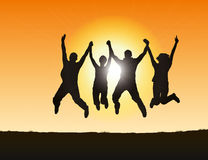 People jumping Stock Photo