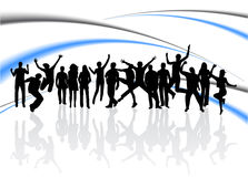 People jumping Stock Images