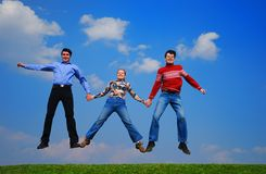 People jumping Royalty Free Stock Photo