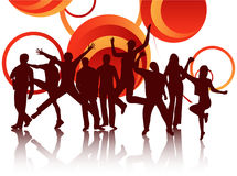 People jumping. Illustration of people jumping and absract Stock Image