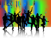 People jumping. Illustration of people jumping and abstract Royalty Free Stock Photo