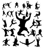 People jumping. Vector jumping people Royalty Free Stock Photos