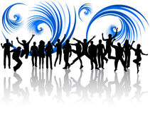 People jumping and abstract Stock Images