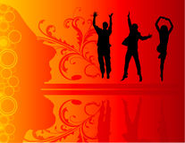 People jumping vector Stock Photography