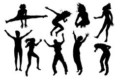 People jumping vector Royalty Free Stock Photo