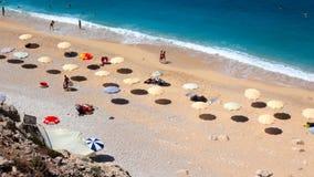People on the Kaputas beach in Turkey stock video footage