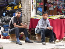 People in Kathmandu, The Streets of Thamel Stock Photos