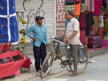 People in Kathmandu, The Streets of Thamel Royalty Free Stock Photos