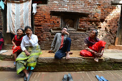 People from Katmandu suburbs living in poverty Royalty Free Stock Photo