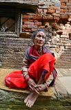 People from Katmandu suburbs living in poverty Royalty Free Stock Image