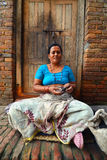 People from Katmandu suburbs living in poverty Royalty Free Stock Photos