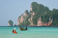 People kayaking at Ao Loh Dalum on Phi Phi Don Island, Krabi Pro Stock Photo