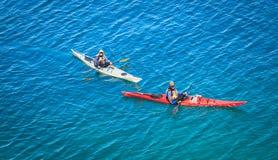 people kayaking on Cyprus lake at  Bruce peninsula, Ontario Stock Photo