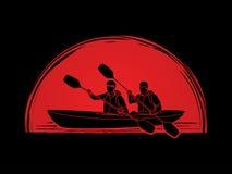 People kayaking Royalty Free Stock Photos