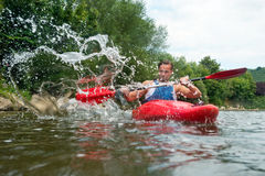 People kayaking Stock Photos