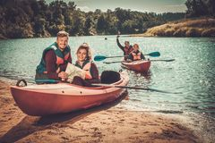 People on a kayaks Royalty Free Stock Image