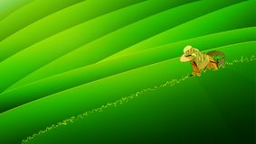 People keep tea leaves. Green season background.s illustration Royalty Free Stock Images