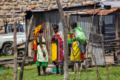 People in Kenya, the black people, the lives of people in Africa Stock Image