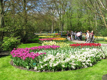 People Keukenhof park Royalty Free Stock Image