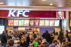 People At KFC Restaurant Royalty Free Stock Photo