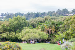 People at the Kirstenbosch National Botanical Gardens Royalty Free Stock Images