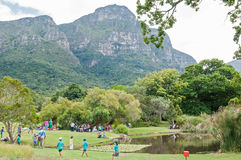 People in the Kirstenbosch National Botanical Gardens Royalty Free Stock Photo