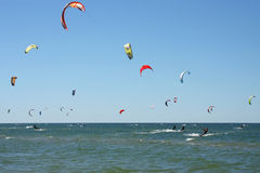 People kiteboarding Royalty Free Stock Photography