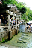 People at the Kiyomizu Springs Royalty Free Stock Images