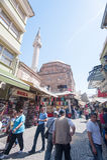 People on Kizlaragasi Han Bazaar Stock Image