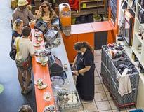 People in the Kleinmarkthalle in Frankfurt am Main Stock Photos
