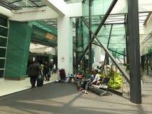People at the KLIA 2 airport in Kuala Lumpur, Malaysia Royalty Free Stock Photos