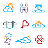 People know no limits in creativity creation app icon set Royalty Free Stock Photography