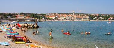 People on the Krk city, Croatia Stock Image