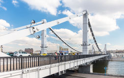 People on Krymsky Bridge. Stock Photo