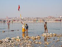 People at Kumbh Mela Royalty Free Stock Image