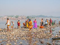 People at Kumbh Mela Royalty Free Stock Photography