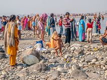 People at Kumbh Mela Royalty Free Stock Images