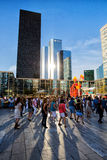 People in La Defence Square, Paris, France Stock Photos