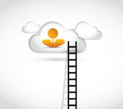 People ladder to cloud illustration design Royalty Free Stock Photos